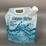 bpa free foldable alkaline water bag: Blue 5 Liter (169 Fluid Ounces) SPECIAL: For every 10 bags purchased get 1 Bag Free!