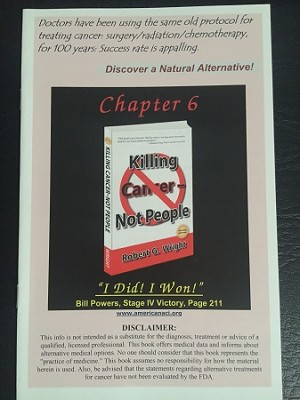 Chapter 6 - Killing Cancer - Not People, 12 Page Pamphlet